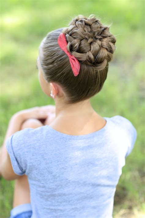cutegirls hair styles pancaked bun of braids updo hairstyles