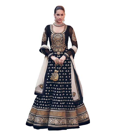 aishwarya design studio aishwarya design studio black embroidered georgette semi