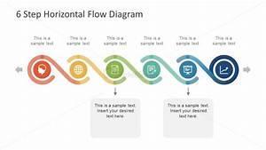 6 Step Horizontal Powerpoint Diagram