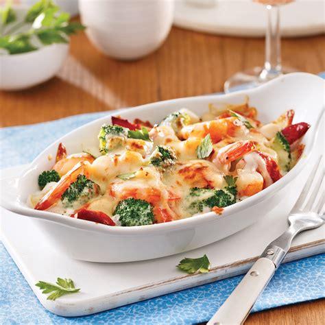 brocolis cuisine gratin de fruits de mer et brocoli pour recevoir recettes 5 15 recettes express 5 15