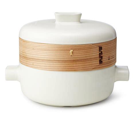 wood steamer jia ceramic steamer pot lid with cedar wood and terra