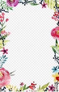 Wedding Invitation Flower Borders And Frames Template Clip Art