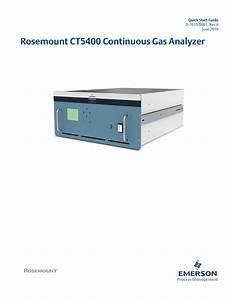 Rosemount Ct5400 Continuous Gas Analyzer