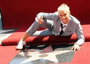 Ellen DeGeneres immortalised on Hollywood Walk of Fame ...