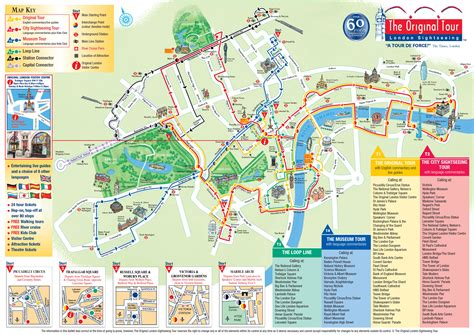 Carte Monument Pdf by Plan Et Carte Touristique De Londres Monuments Et Circuits