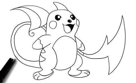 Unique Pokemon Coloring Pages Raichu Design Printable