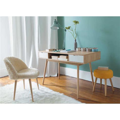 bureau du monde chaise vintage en fausse fourrure ivoire chaise vintage