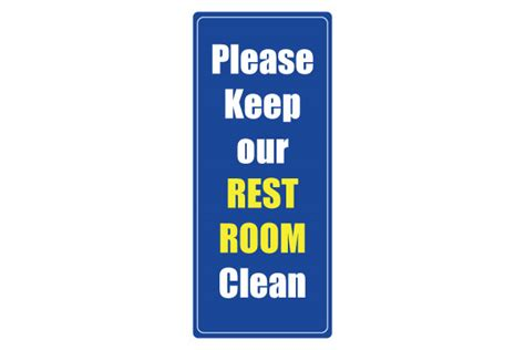 Printable Clean Bathroom Signs by Printable Restroom Signs Cliparts Co
