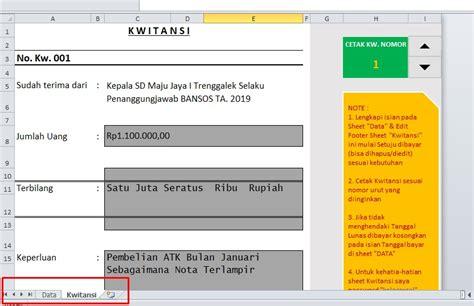 Contoh Kwitansi Pembayaran Excel by Contoh Kwitansi Tanda Terima Akutansi Keungan