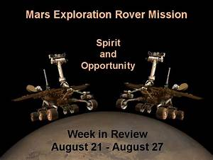 NASA Mars Exploration Rover Mission Week In Review 21 - 27 ...