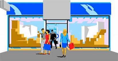 Mall Clipart Shopping Animated Illustration Hallway Transparent