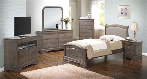 G3105 Youth Upholstered Headboard Bedroom Set Kids And