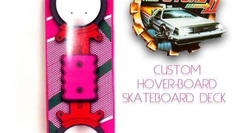 Back To The Future Hoverboard Skateboard Deck by Back To The Future Part 2 Hoverboard Skate Deck