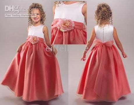 coral junior bridesmaid dresses sell pretty coral flower dresses white satin communion dress lovely