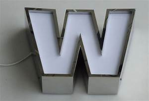 stainless return sided channel letters With stainless steel letters