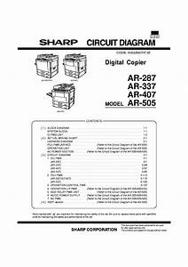 Sharp Ar 235 Ar 275 Service Manual Parts List Circuit Diagram