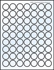 Glossy clear printable sticker labels 50 sheets 1 inch for Circle sticker sheets