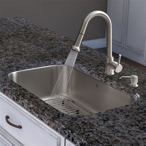 kitchen sink and faucet sets vigo all in one 30 inch undermount stainless steel kitchen