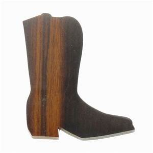 Cowboy Boot Silhouette Magnet - Ironwood Carving | EarthView