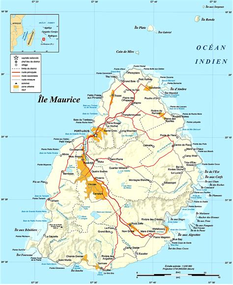 Ou Se Trouve L Ile Maurice Sur La Carte Du Monde by Carte 238 Le Maurice 187 Vacances Arts Guides Voyages