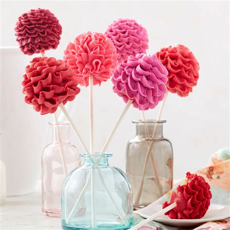 cake pops floral wilton pop blooming flower decorating project wlproj recipe easy recipes