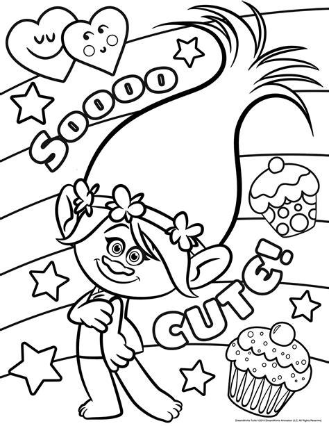 'sooo Cute' ! Les Trolls  à Imprimer Et Colorier Sans
