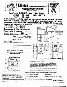 Hydraulic   Piqua Baler Manual