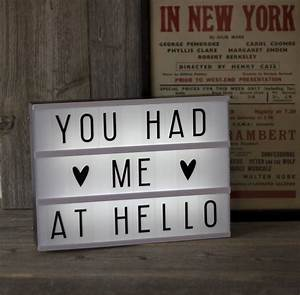 customisable cinema lightbox by the little house shop With cinema light box letters