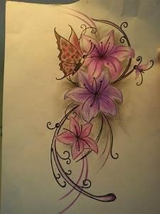 amaryllis tattoo | farbe bitte ignorieren. ;-) | Tattoos ...