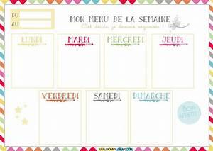 Modele De Menu A Imprimer Gratuit : planning vierge menu de la semaine recettes cookeo ~ Melissatoandfro.com Idées de Décoration