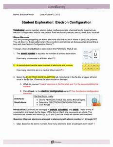 Electron Configuration Worksheet Answers Lithium