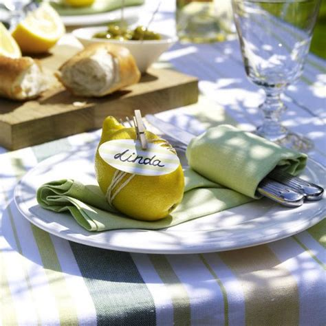 Italienische Deko Selber Machen by Tischkarten Basteln Namensschild Mit Zitrone Table