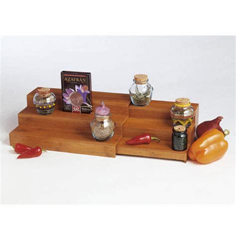 kitchen cabinet shelf risers bamboo expandable step shelf in shelf risers and organizers