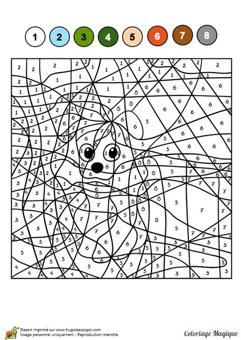 recette de cuisine ce1 dessin à colorier d un coloriage magique cm2 un petit chien