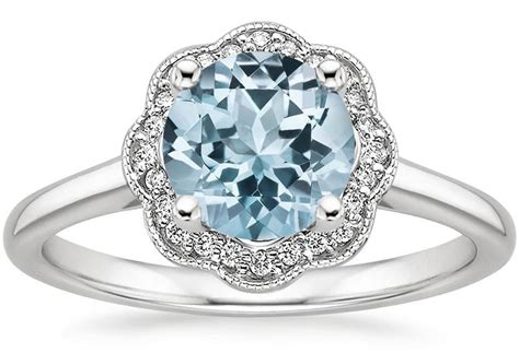 aquamarine engagement rings  wedding bands  handy
