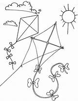 Kite Coloring Pages Flying Children Sunny Coloringpagesfortoddlers Themed Colouring Preschool Boys Sheets Books sketch template