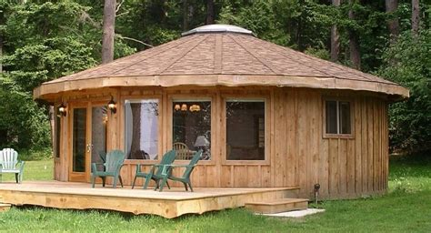 woodworking build wood yurt  home plans blueprints