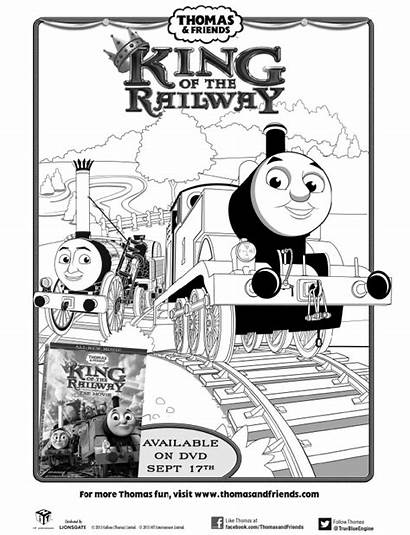 Thomas Coloring Friends Printable Train Pages Railway
