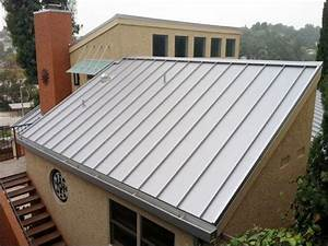 Exterior, Modern Metal Roof Designs Applied In Small House ...