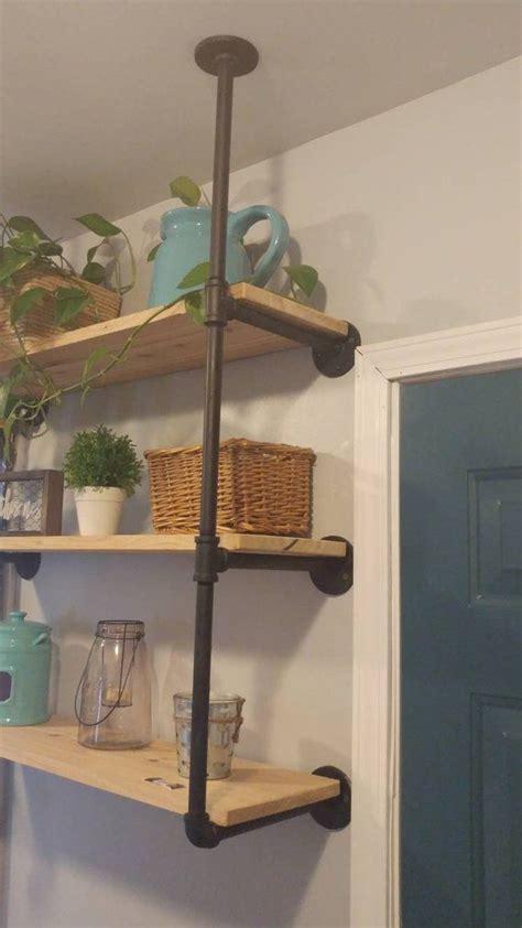 ceiling hanging shelf half inch pipe hanging shelf hanging bracket hanging
