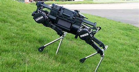 Amazing Robot Dog Can Climb Grassy Slopes And Regain Its