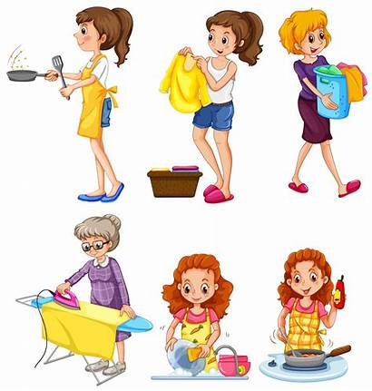Chores Doing Different Vector Clipart Cleaning Resources