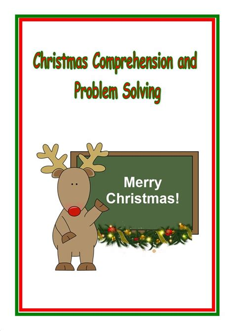 Ks2, Christmas Inference, Deduction, Problem Solving And Homework, Sats, Reading, And English