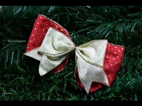 decoracion de arboles con cinta como hacer mo 241 o sencillo lazos decoraci 243 n navidad