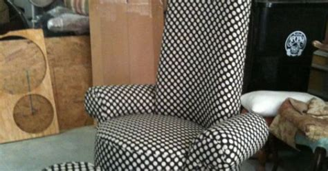 Whimsical Made-to-order High Back Upholstered Chair And
