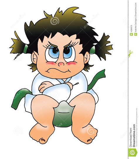 children angry stock illustration illustration  kata