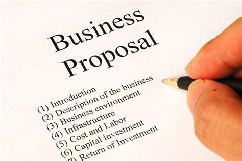 persuasive business proposal   write