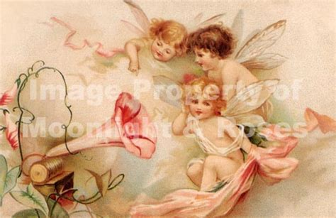 Vintage fairy, cherub & angel prints   wall art or
