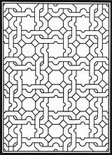 Coloring Pages Patterns Geometric Stained Glass Adult Pattern Dover Creative Publications Haven Mosaic Islamic Adults Printable Doverpublications Welcome Genius Colouring sketch template