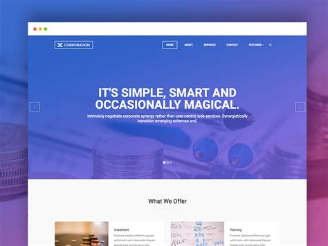 Simple Html Templates Free 10 Free Responsive Business Website Templates 2018